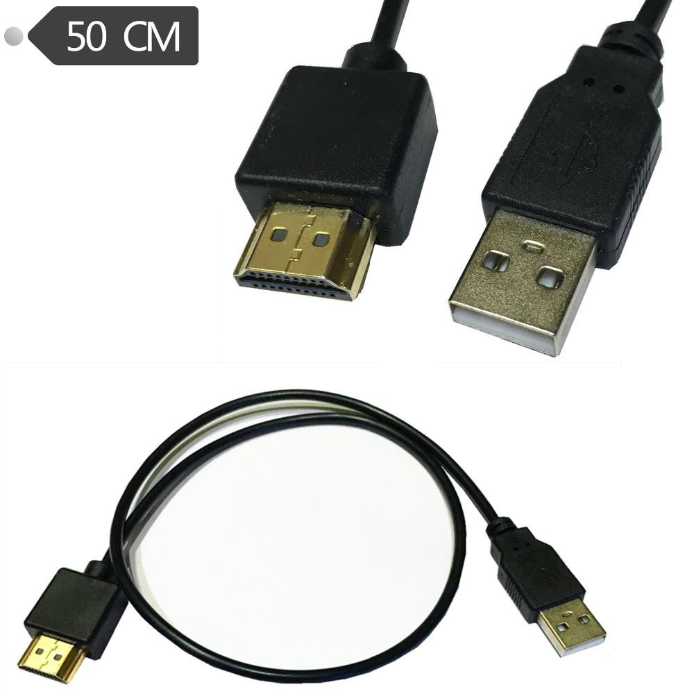 50cm Hdmi Male A V Adapter Usb 20 Power Supply Connector Cable Micro Sata To Data Computer Network Cables And Connectors Computers From Candybin
