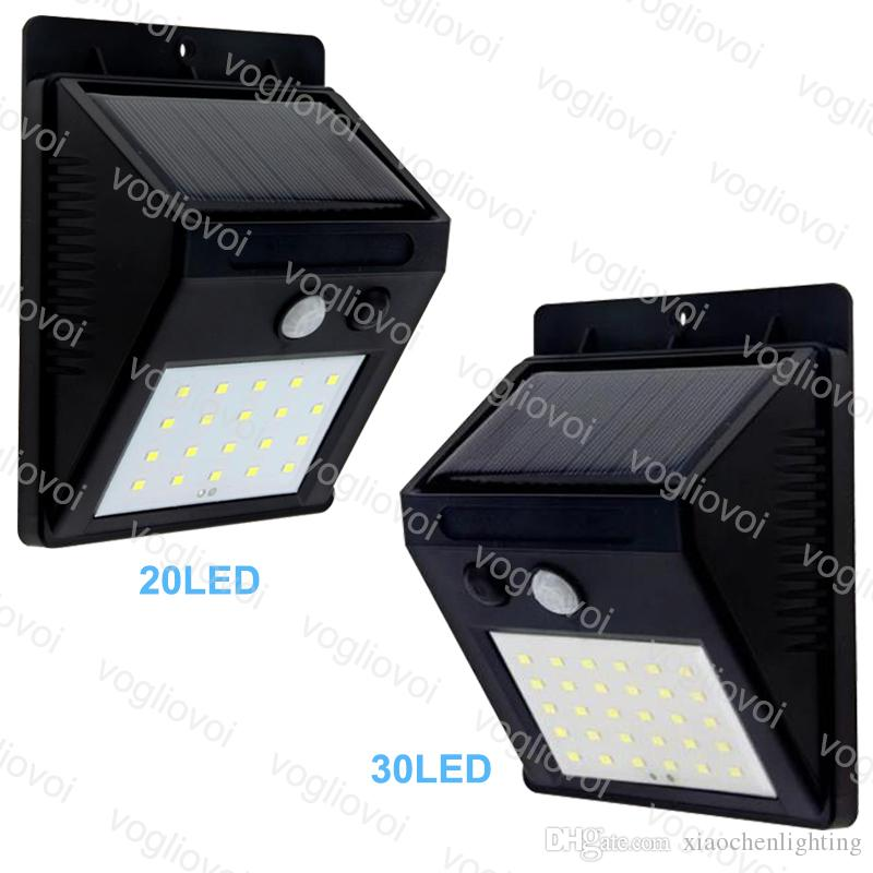 solar led outdoor lighting 20leds 30leds solar panels power pir rh dhgate com