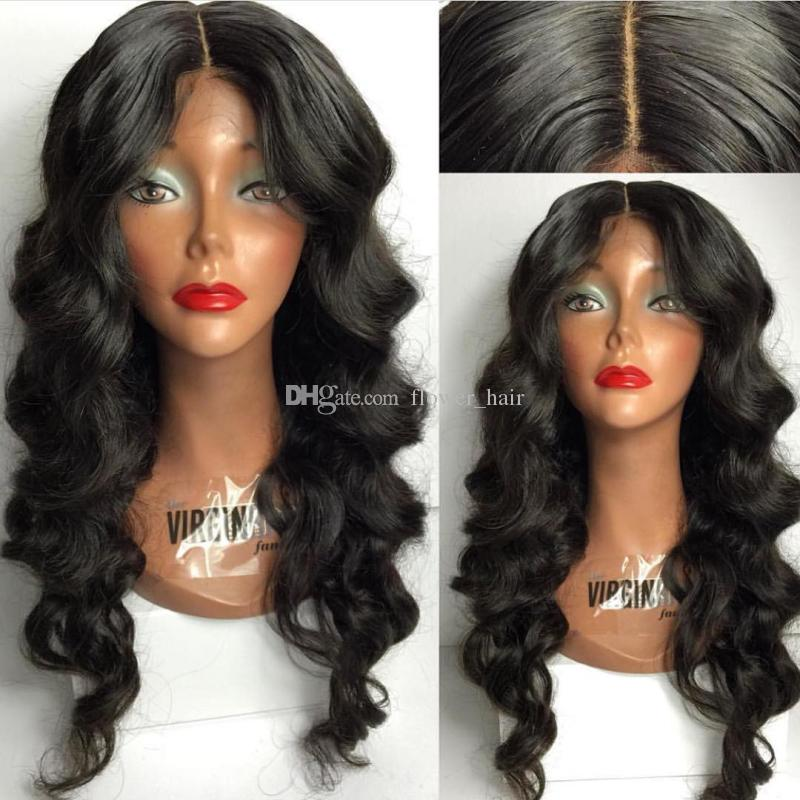 5*4.5'' Silk Top Glueless Full Lace Wigs Loose Wave Virgin Brazilian Full Lace Human Hair Silk Base Wig With Baby Hair