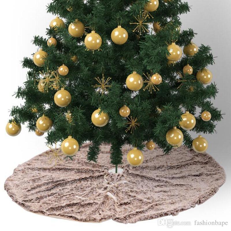 79badfe90aa Christmas Tree Dress 75CM Soft Wool Carpet For Merry Christmas Decorations  Hotel Market Home Christmas Tree Decorations Great Christmas Decorations  Handmade ...