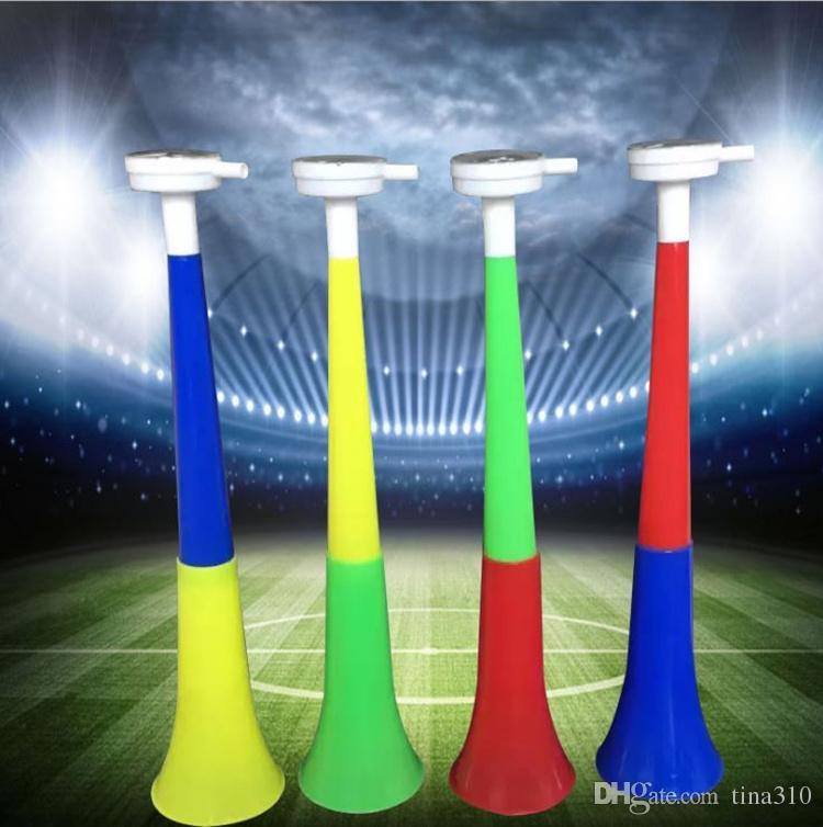 Trompette longue réunion sportive fans de coupe du monde cors Accessoires Accessoires trompette fan trompette corne corne corne plastique corne T4H0496