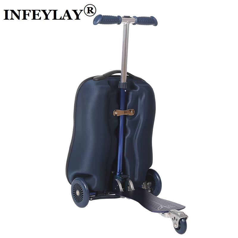 Luggage & Travel Bags High Quality 21 Inches Boy Scooter Suitcase Trolley Case 3d Extrusion Business Travel Cool Luggage Creative Men Boarding Box Reasonable Price