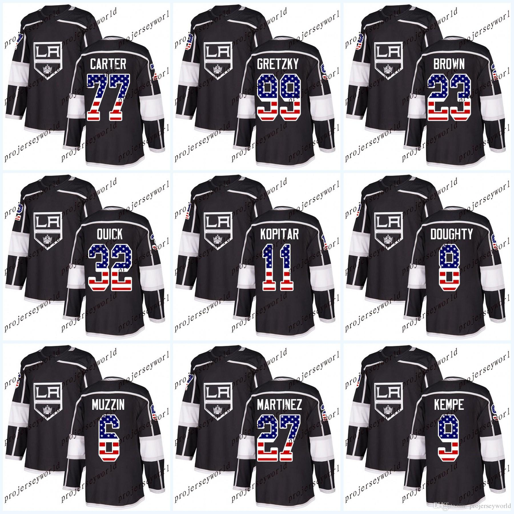b36b1ce53 ... jersey 76 f0049 f99d8 shopping usa flag stitched los angeles kings 32  jonathan quick 8 drew doughty 11 anze kopitar ...
