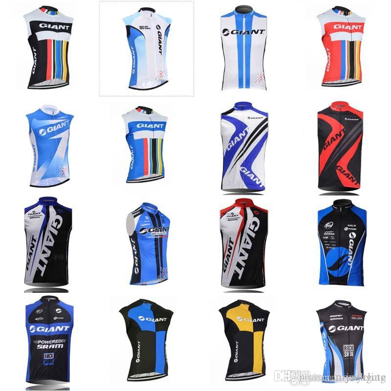 GIANT team Cycling Sleeveless jersey Vest Summer Breathable Quick Dry Mtb Bike Clothes for men D0805