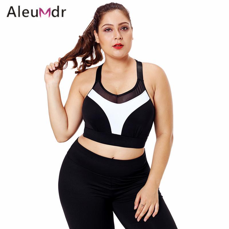 ac40e71633e10 Aleumdr Fitness Sports Bra Plus Size Black Mesh Strap Yoga Bra For Women  Professional Gym LC26030 Sujetador Deportivo Mujer UK 2019 From Peniss