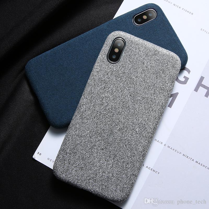 88ff9bdb01 Cloth Texture Case For IPhone 7 8 PLUS Max Soft Silicone TPU Ultra Thin Case  For IPhone X XR XS Cover Good Customized Phone Cases Cute Phone Cases From  ...