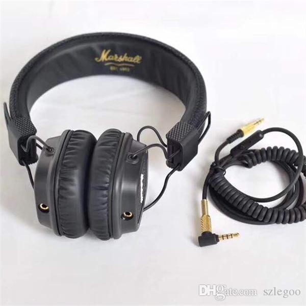 Best quality New Generation Brand Gaming Headset with Remote Mic Marshall Major II Black Headphones Marshall 2 Headphone
