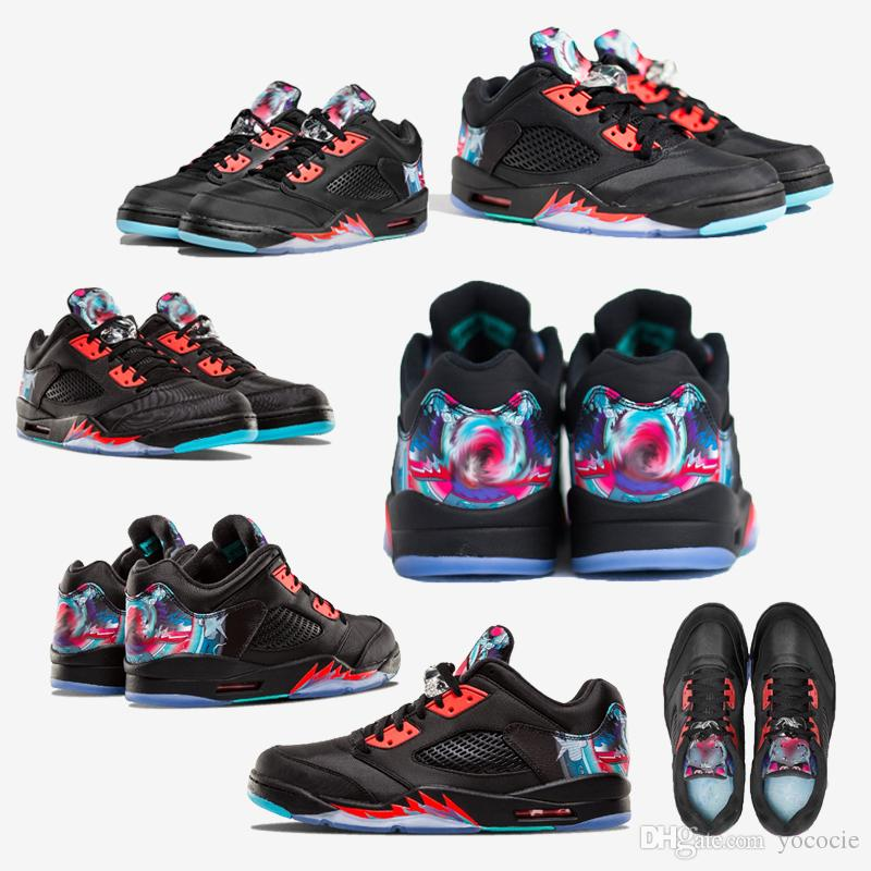 607e424a9a2 Chinese New Year Kite Basketball Shoes Men Women 5s CNY Kite Sports ...
