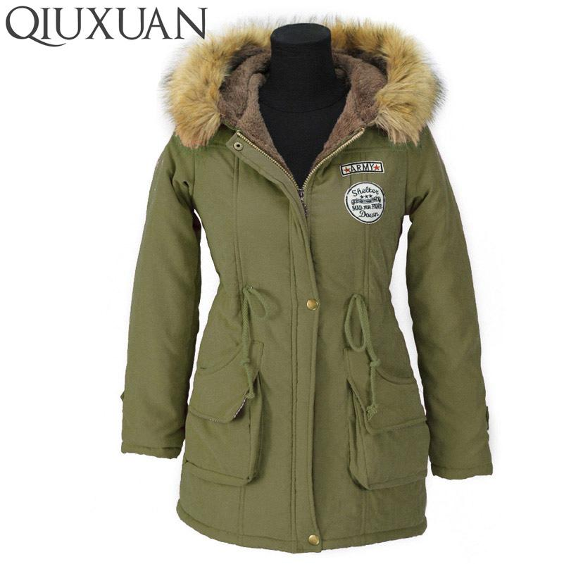 Winter Warmth Jackets Coats Women Parka Fashion Faux Fur Hooded Collar Casual Long Parkas Down Cotton Wadded Laidies Overcoat