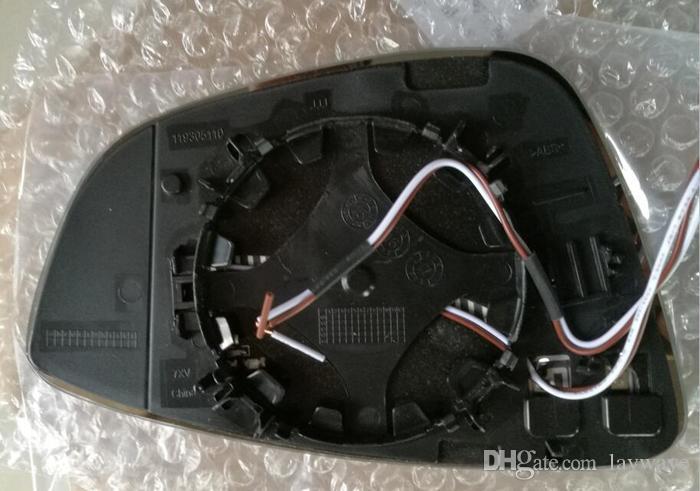 Dinamik b7 Scirocco passat VW Volkswagen Beetle cc için mavi cam ısıtma yan dikiz aynası sinyal göstergesini açtı