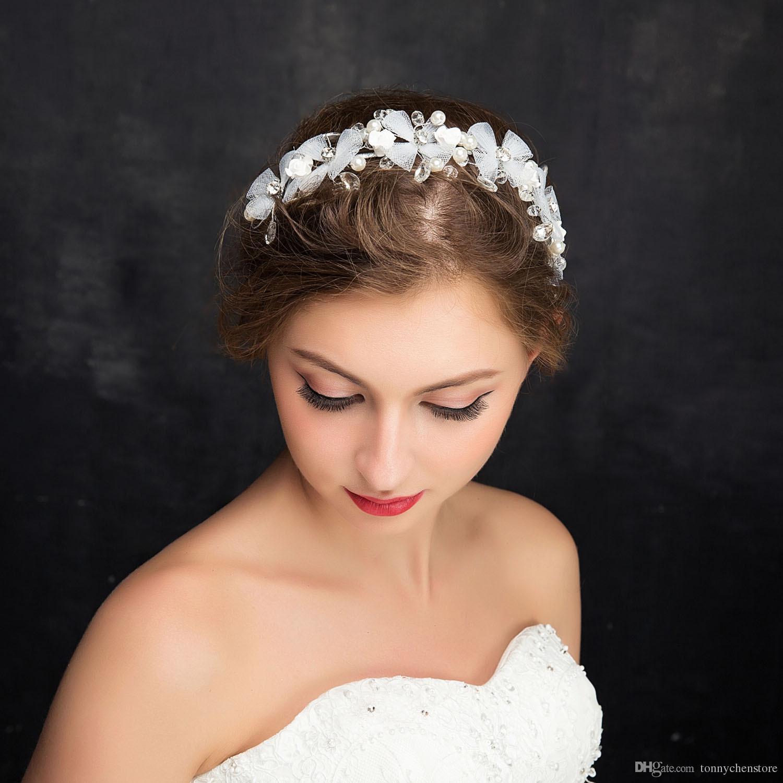 2019 New For Women Crystal Wedding Hair Accessories Headband Gold