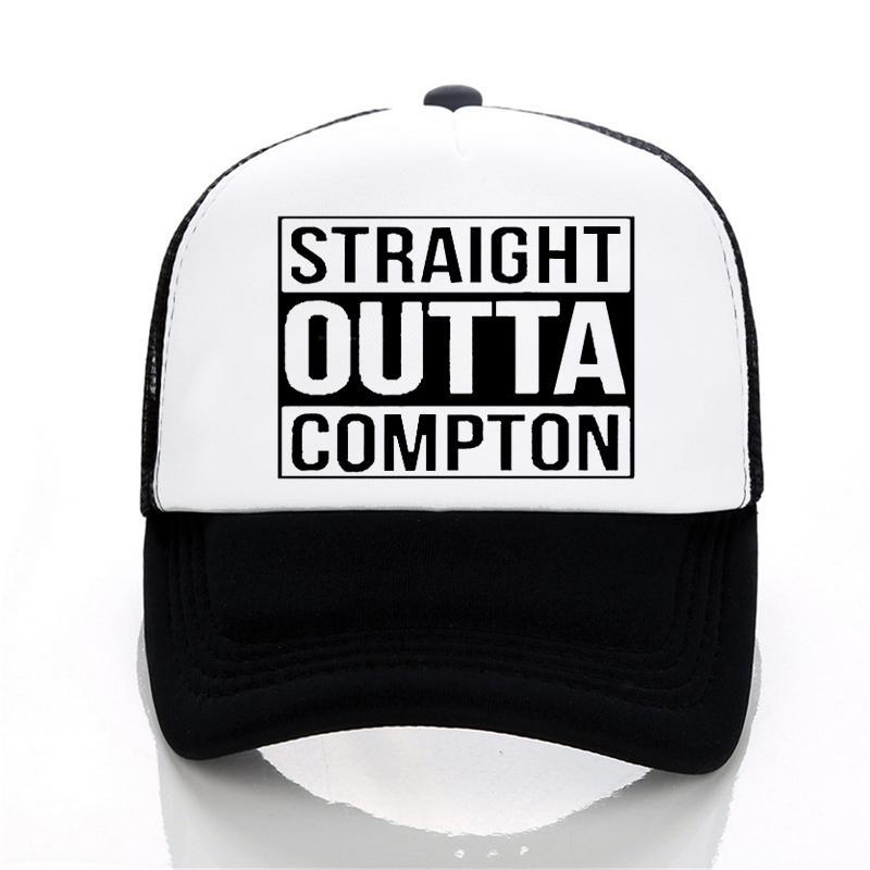 Compre Letter Straight Outta Compton Gorra De Béisbol Europa Y Estados  Unidos Style Rock Hat Summer Leisure Gorra De Malla Unisex Gorros De  Camionero A ... aa48b5063c5
