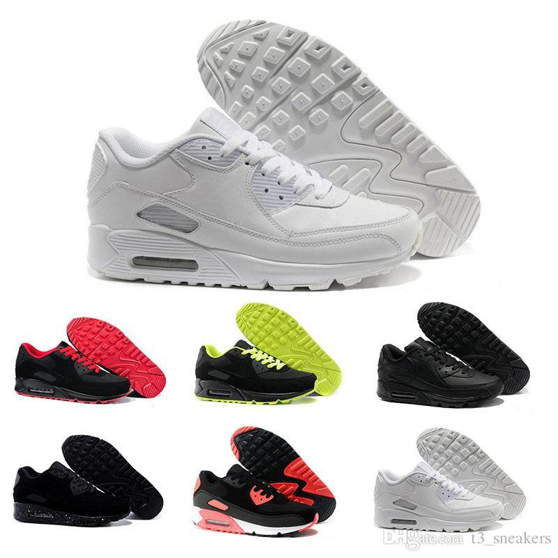new styles 19ea6 9a16b Compre N07 1 2018 Nike Air Max 90 Sneakers Nueva Llegada X S Hielo 10X  AA7293 100 Zapatos Casuales Para Hombres Mujeres Zapatillas Talla 36 46  Envío Gratis ...