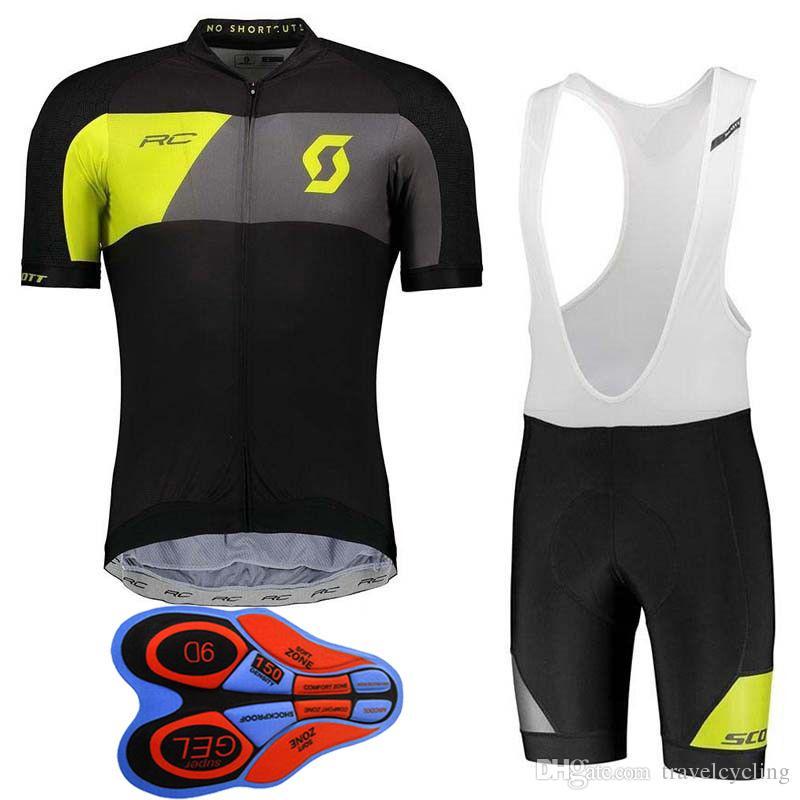 b3c0043e2 2018 SCOTT Pro Team Cycling Jersey Short Sleeve Racing Shirt 9D Bib Shorts  Set New Arrival MTB Bike Clothes Breathable Men Cycling Gear H108 Womens  Cycling ...