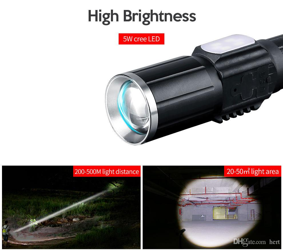 Tactical flashlight ultra bright flashlight high power rechargeable led flashlight 18650 torch USB led Torch light