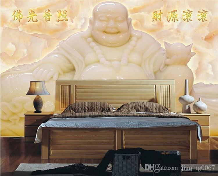 Großhandel Wohnzimmer 3d Chinesische Wind Jade Carving Buddha ...