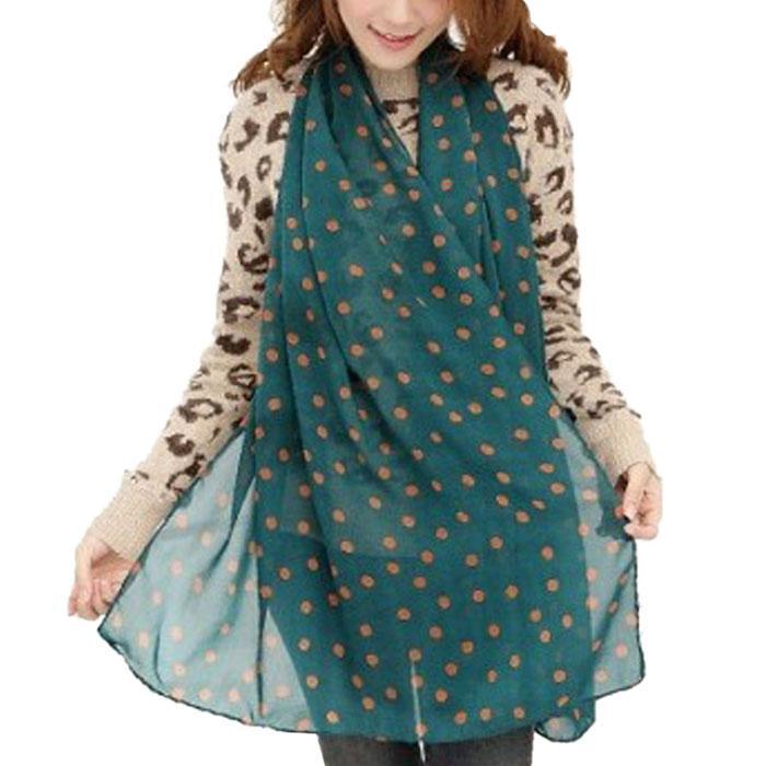 2017 New Stylish Girl Long Soft Silk Chiffon Scarf Brand poncho Wrap Polka Dot Shawl Scarves Shawls For Women Casual Scarfs