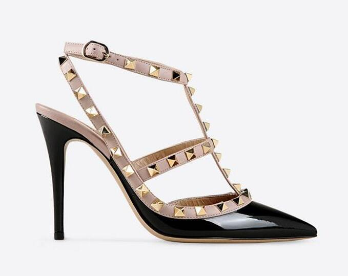 d5fd687759 Sexy Pointed Toe Med High Heels Summer Womens Wedding Fashion Buckle  Studded Stiletto High Heel Sandals Shoes Women Shoes For Sale Womens  Loafers From ...