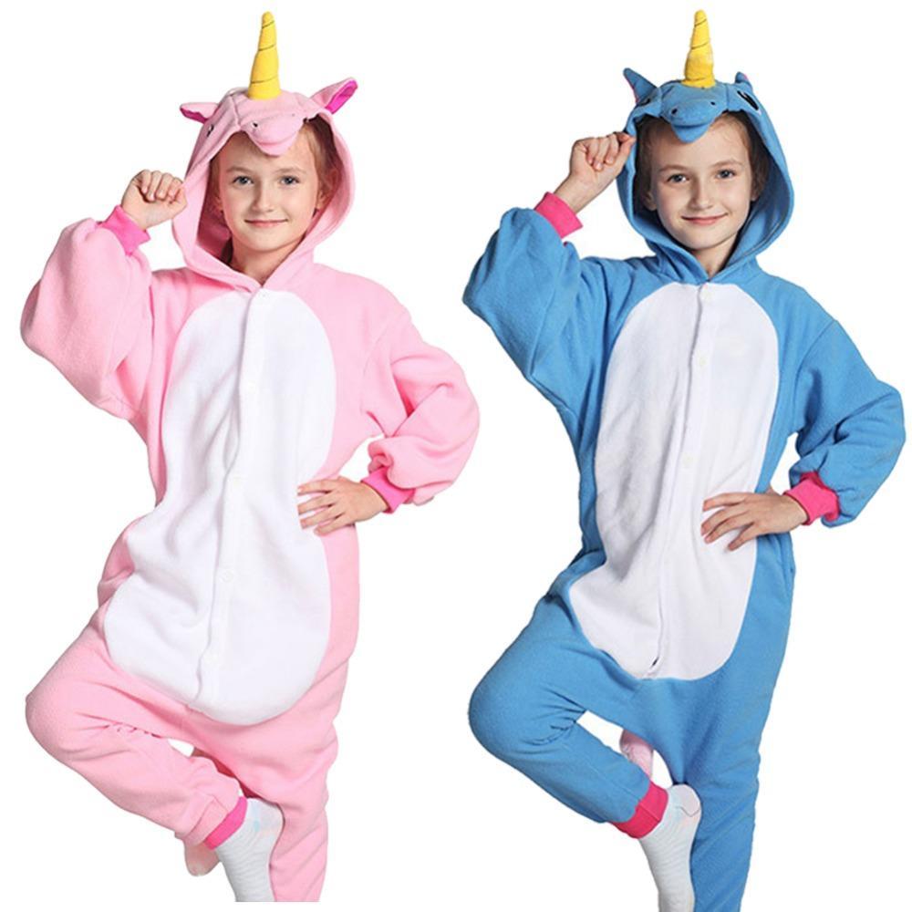 3896761f599d Unisex Children Unicorn Pajamas Halloween Costume Animal Kids Homewear One  Piece Party Dress Boys In Pajamas Girls Pajama Set From Deve