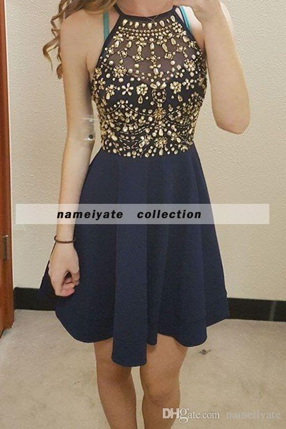 Robe De Soiree Fashion Bride Luxury Satin Beads Grey Elegant Short Cocktail Dresses Sexy Banquet Party dresses Homecoming Dress