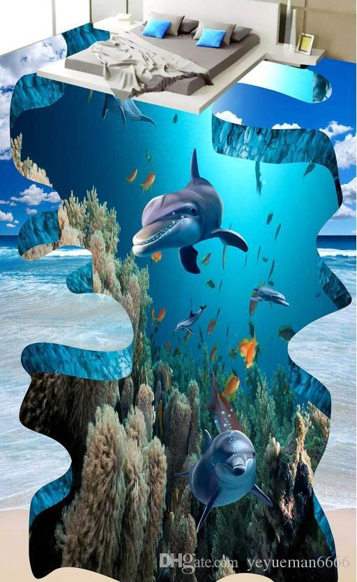 Самоклеющиеся обои 3D полов подводный мир обои для спальни гостиной 3 этаж