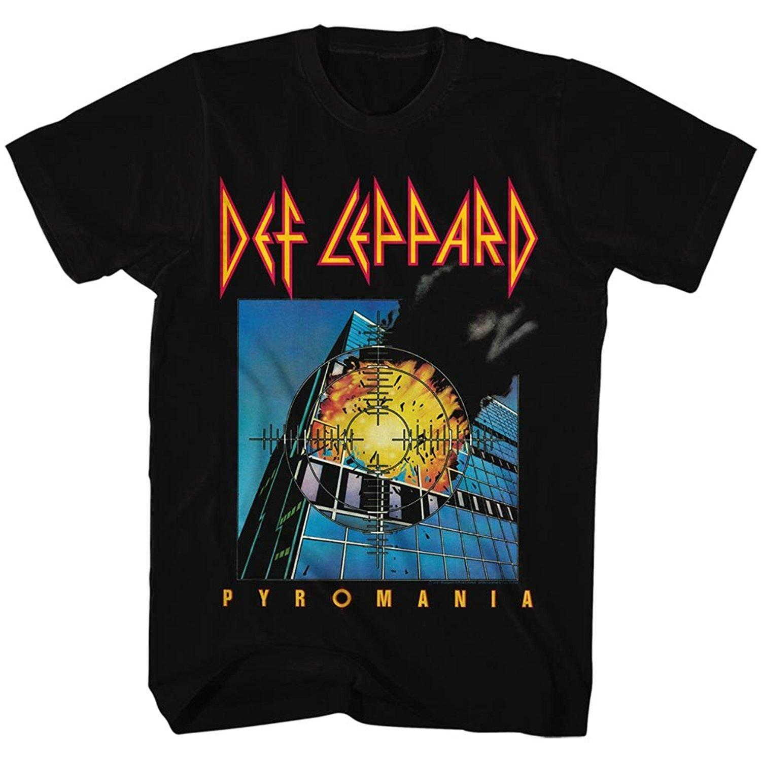 4d3fc23fe6f Def Leppard 80s Heavy Hair Metal Band Rock And Roll Pyromania Adult T-Shirt  Tee Online with  12.99 Piece on Marcusdover s Store