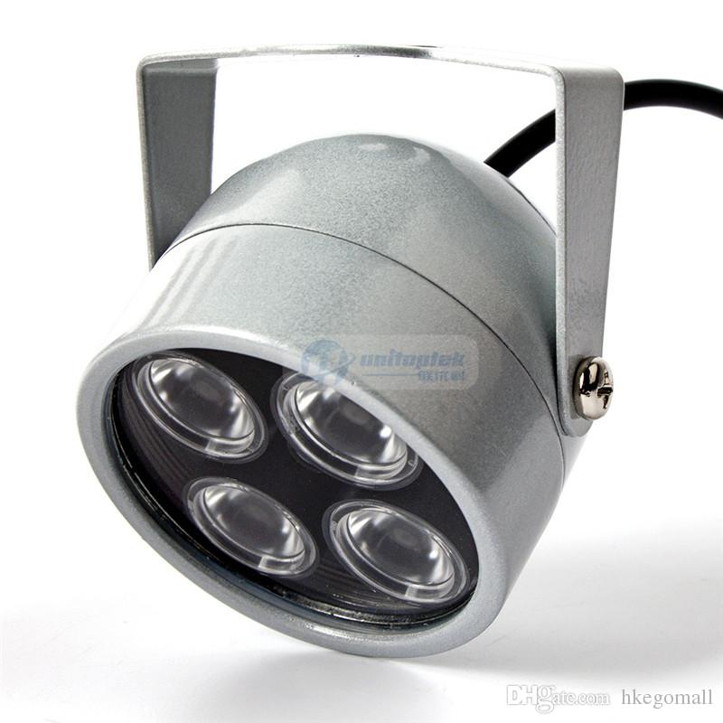 4 IR LED Infrared Illuminator Light IR Night Vision For CCTV Security Cameras Fill Lighting Metal Gray Dome Waterproof