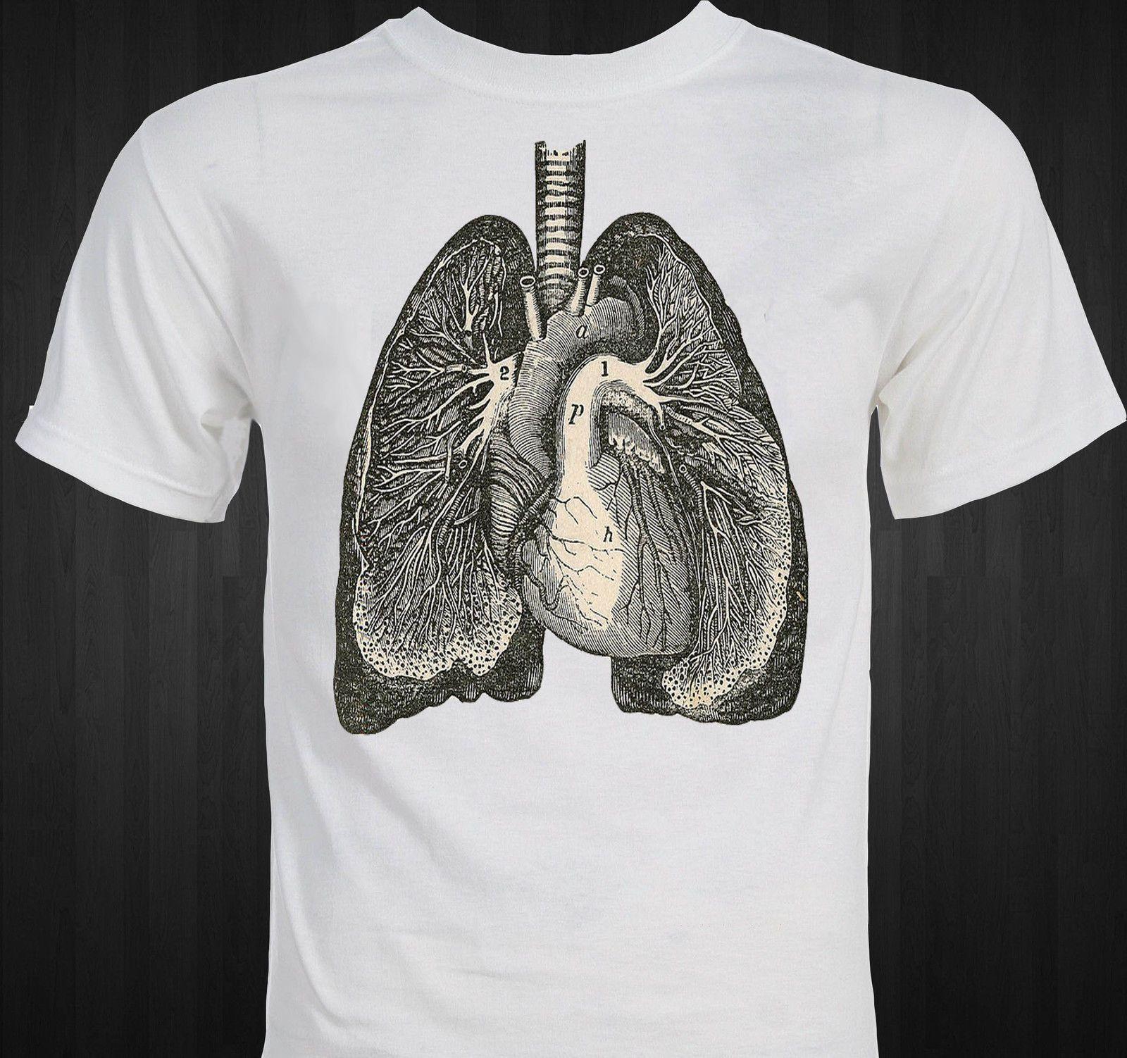 Compre Anatomía De Los Pulmones Dibujo Vintage Camiseta A $11.41 Del ...