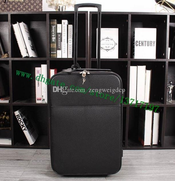 585d1ea4b77 Top Grade Men Real Calf Leather Travel Suitcase Designer Rolling Luggage  Black Taiga PEEGASE LEEGERE M30005 Travel Suitcase Rolling Luggage Black  Taiga ...