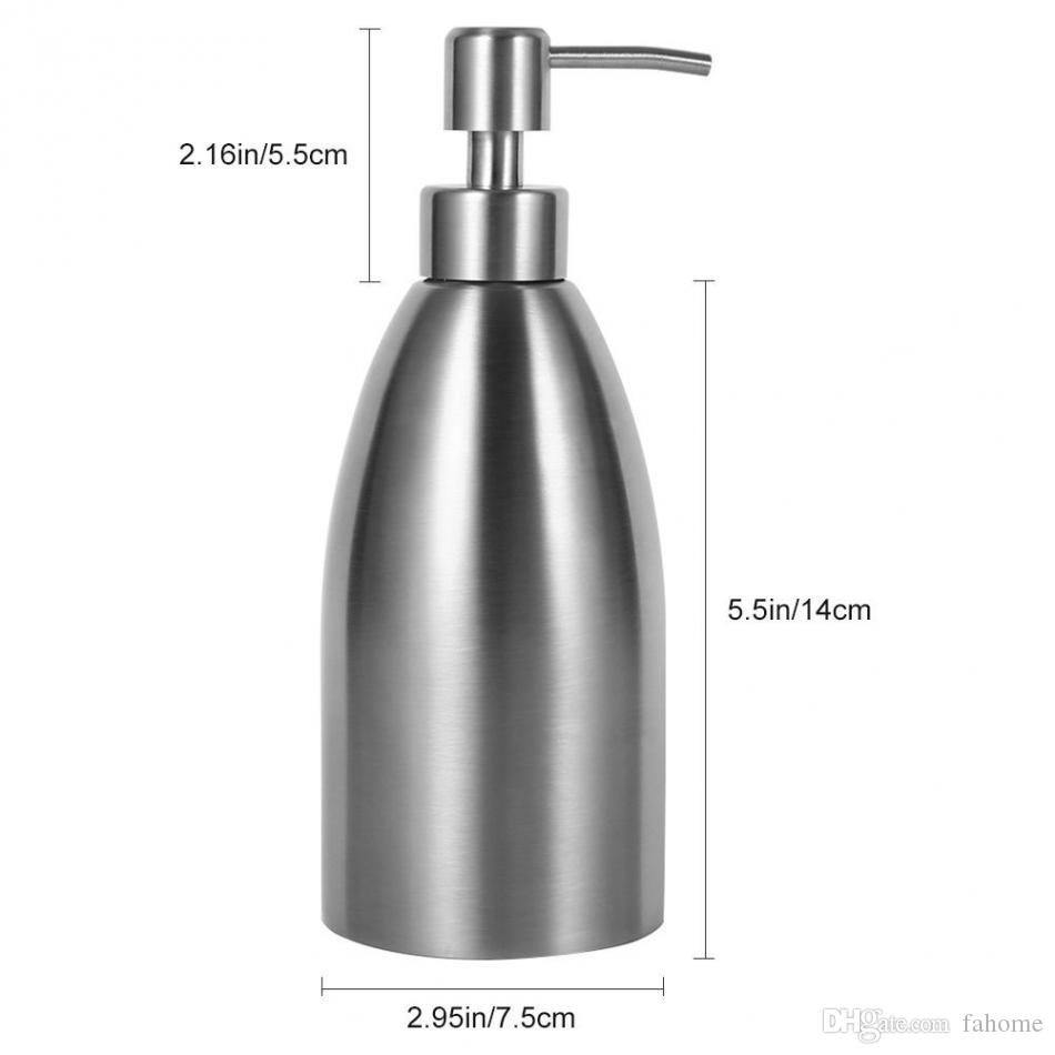 500ml Stainless Steel Soap Dispenser Kitchen Sink Faucet Bathroom