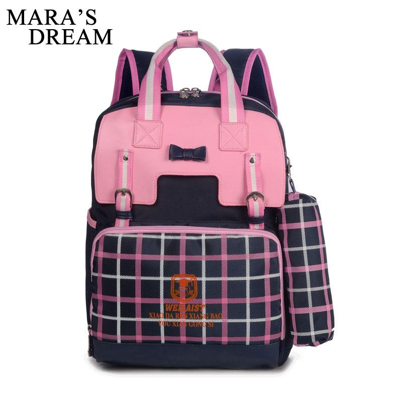45eebdd7b4 Mara S Dream Girls School Bags Backpack For Teenagers Nylon Students Book  Bag Shoulder Schoolbag Female Bagpack BookBag Satchel Small Backpacks  Vintage ...