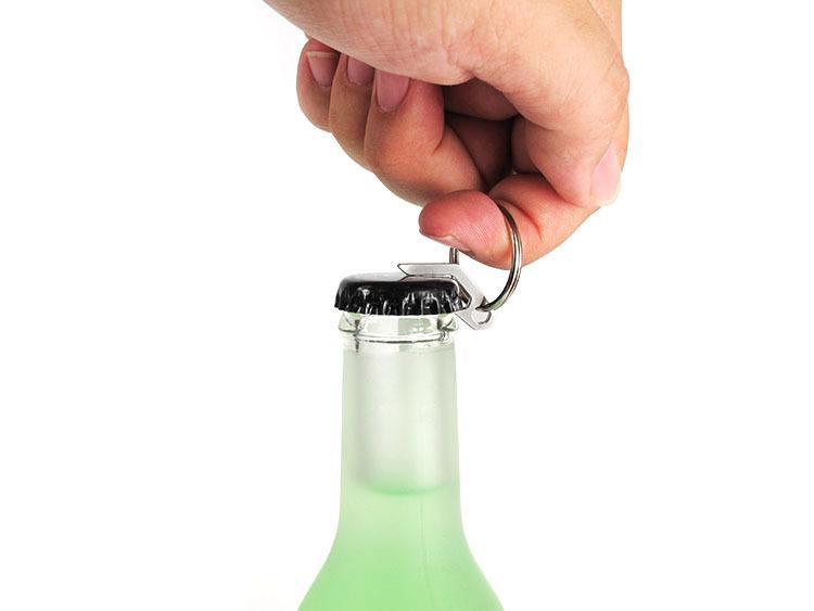 Мини-металлические ножи из нержавеющей стали многофункциональные с брелком для пива на открытом воздухе отвертка