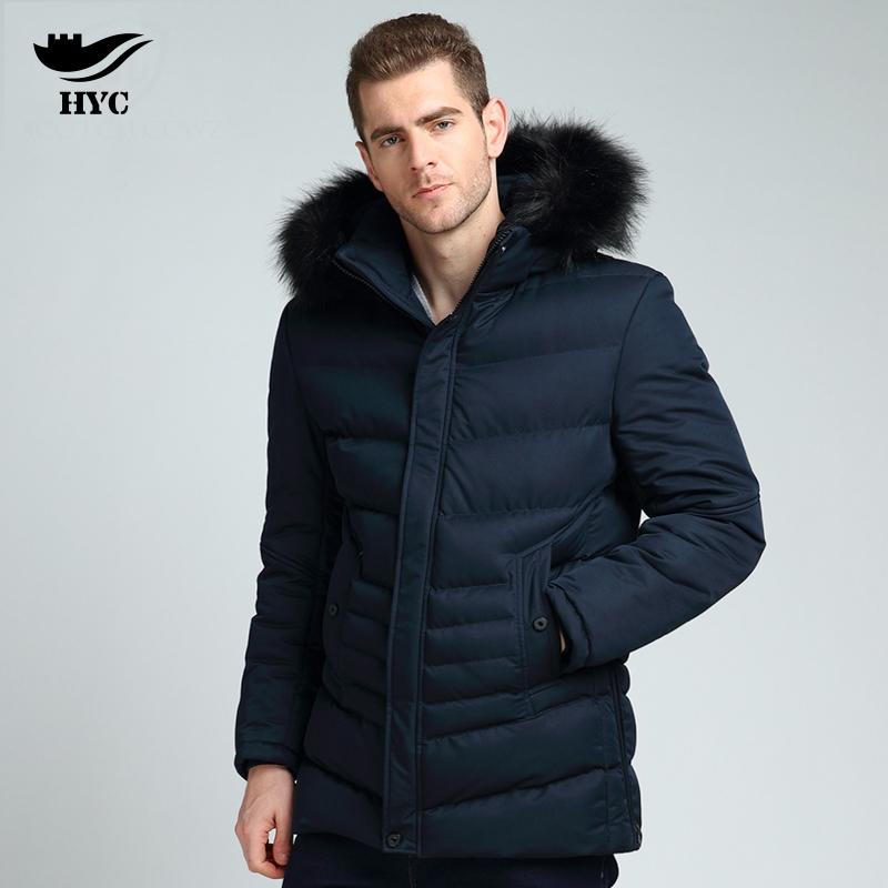 2019 HAI YU CHENG Parka Men Winter Jacket Padded Coat With Fur Hood Men S  Puffer Jacket Quilted Long Coats Male Cotton Parka Mens From Hognyeni 2eee7bca8