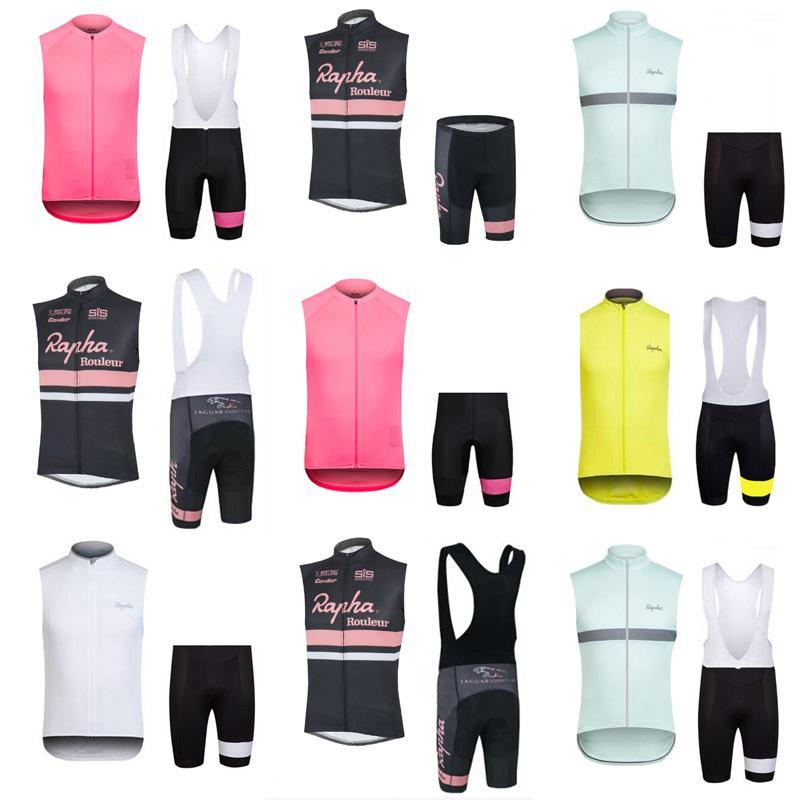 RAPHA Team Cycling Sleeveless Jersey Vest BibShorts Sets Summer Men S Road Bike  Jersey Suit Hot Sale Bikes Clothes C2318 Custom Cycling Apparel Custom ... be955a5f0