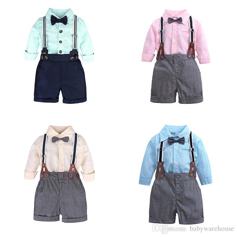 eeb31b31de58 Baby Boy Clothes Sets Spring Autumn Infant Boys Gentleman Suits Long ...