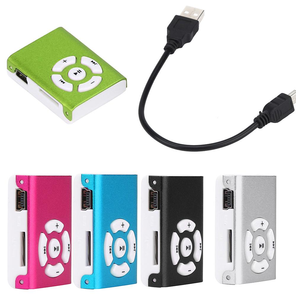 Fashion New Mini Clip Mirror Supporting USB 2.0 MP3 Player Micro SD TF Card Music Media USB Flash Drive Portable Player 10Aug 1