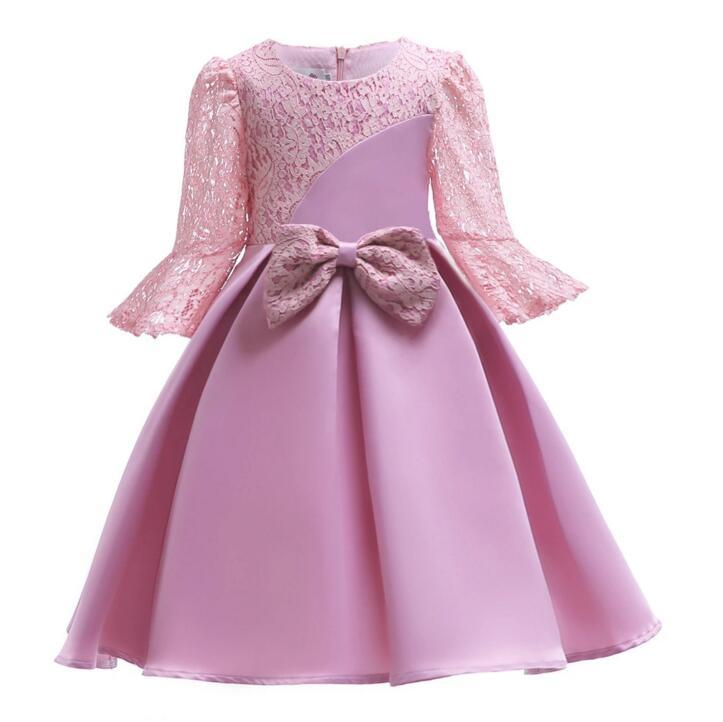 25e6d31ab Kids And Girls Dresses Autumn Child Wear Lace Bow Dress Girls Child ...