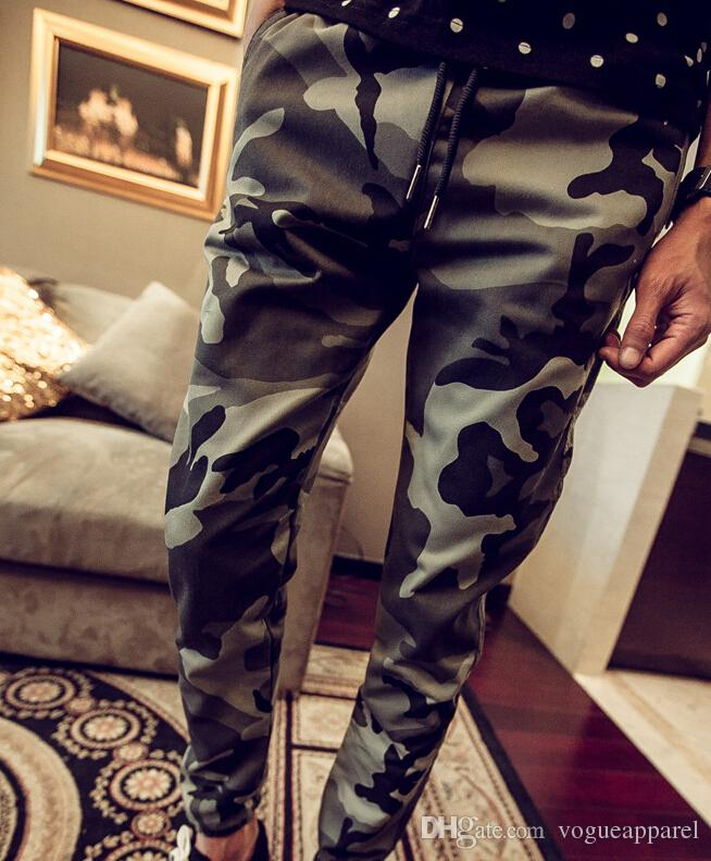 Camouflage Pencil Pants for Men Slim Fit Clothing Spring Summer Long Pants Leisure Trousers Jogger