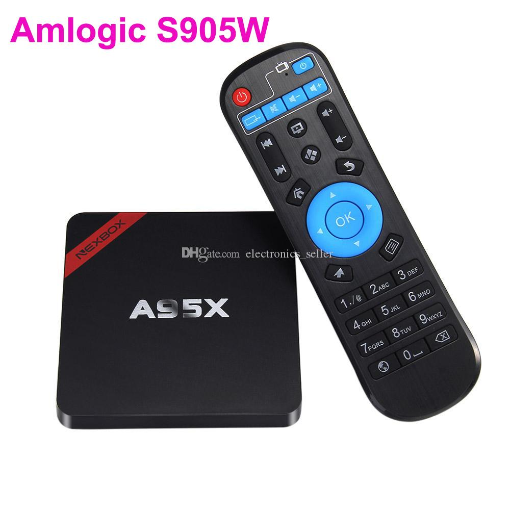 Nexbox A95X TV BOX Amlogic S905W Quad Core 1G 8G WIFI Android 7 1 Set-top  BOX Dolby DTS Miracast DLNA Smart Media Player
