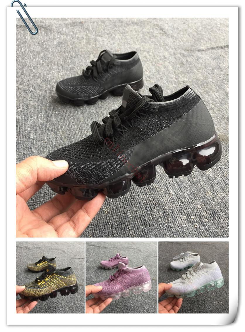2018 Vapormax Children Shoes Skate Boys and Girls Casual Shoes 6 Colors Kids Shoes Kid Sneakers Eur 28-35