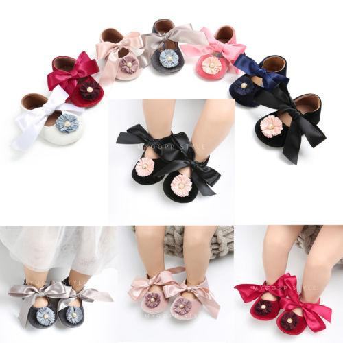 6a6419b9 2019 Newborn Baby Girl Princess BowKnot Pram Shoes Prewalkers Toddler  Infantil Girls First Walkers Trainers Soft Sole Shoes Mocassins From  Jeanyme, ...