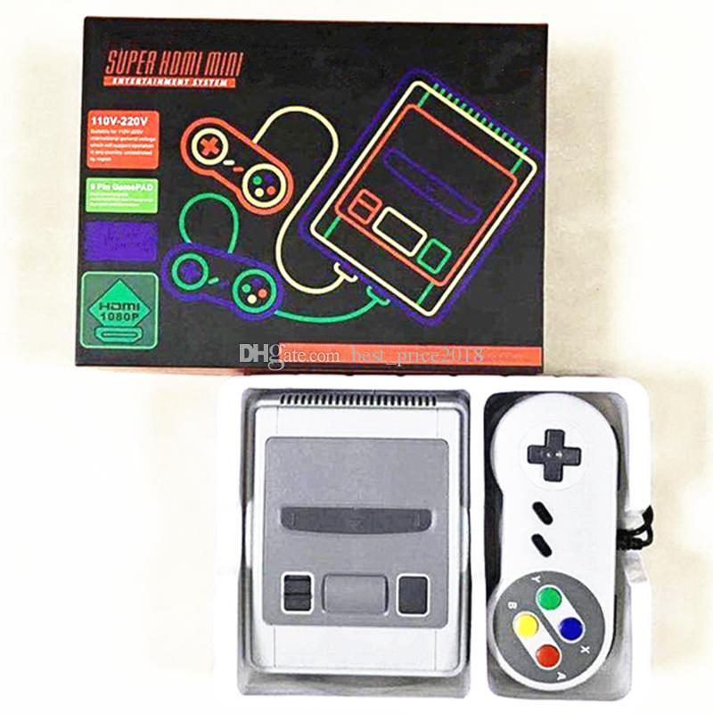 2018 HD Super Mini Classic SFC TV Candheld Game Console Entertainment System Man Solution 621 игра SFC Nes / Snes Games Console Free DHL