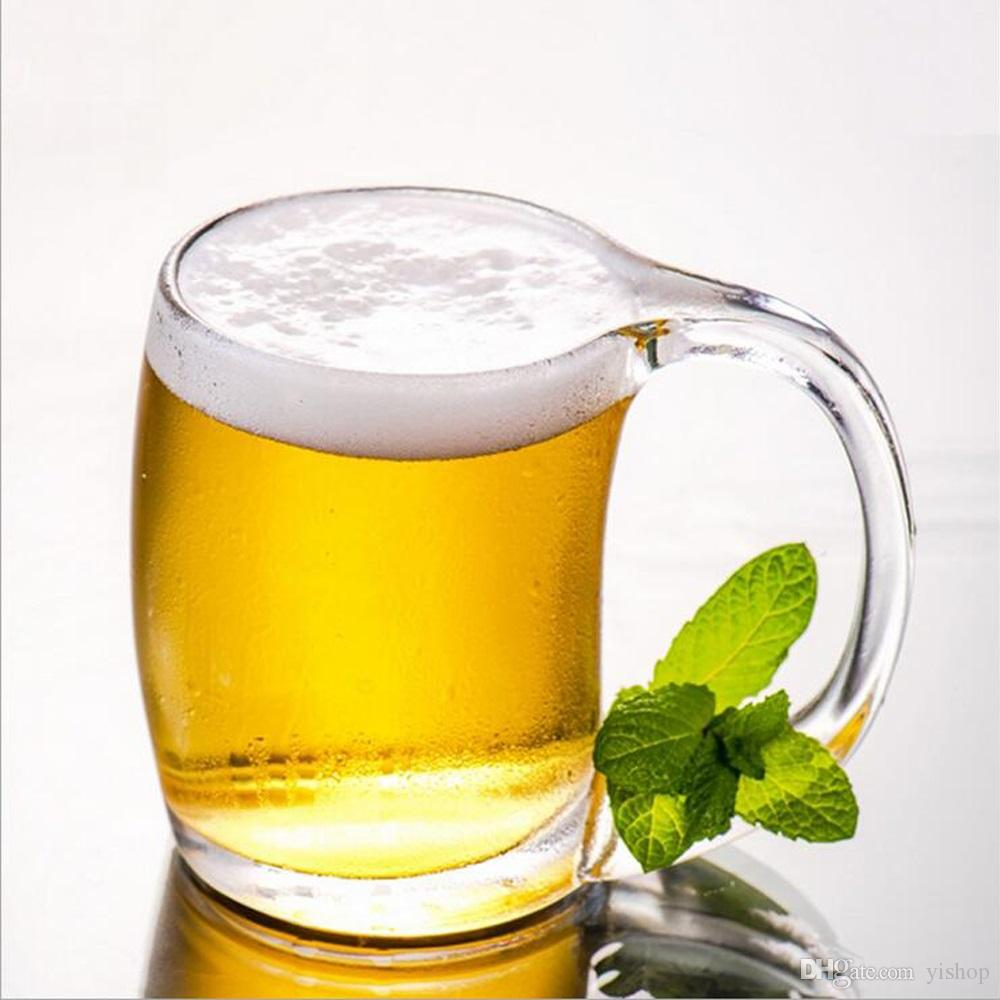 Wholesale 390ML Beer Mug Cup With Handle Hot Tea Juice Whisky Wine Glass Home Bar Party Cheers Beer Steins