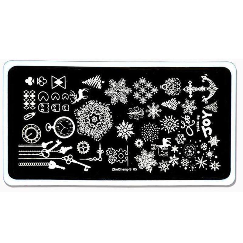 Mafanails Animal Deer Snowflake Nail Stamp Stamping Set Diy Image