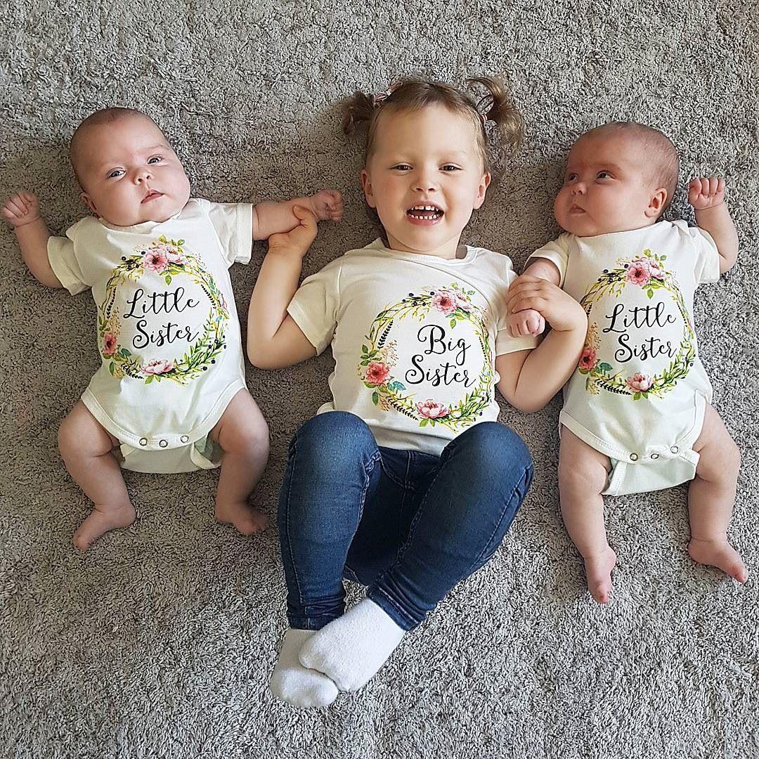 1bb84b8d61b4 2019 2018 Cute Baby Girl Little Big Sister Match Clothes Hot Toddler ...