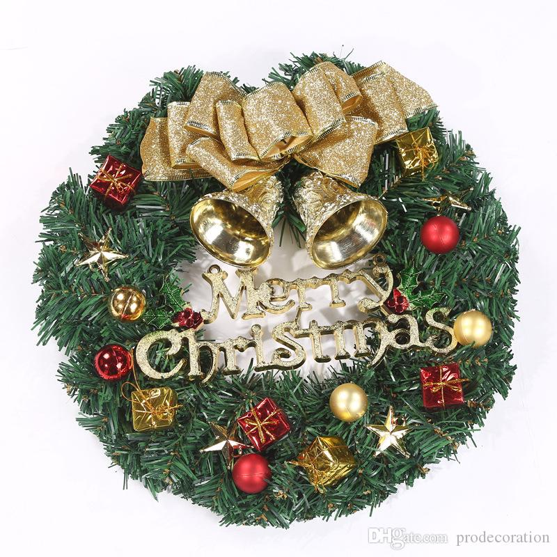 30cm christmas wreath flower pinecone garishness party hotel home ktv door tree garland decoration cheap christmas decorations for sale cheap christmas
