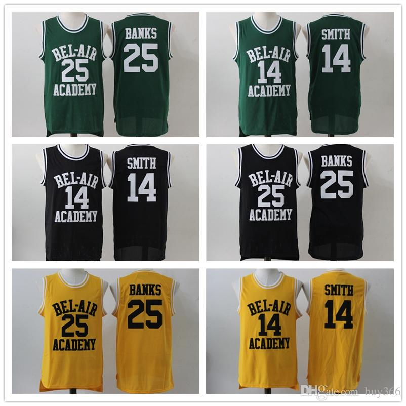 52e0acc54c87 2019 The Fresh Prince Of Bel Air Academy Will Smith 14 25 Carlton Banks  Movie Jersey Stitched Yellow Black Basketball Jersey S XXXL From Buy366
