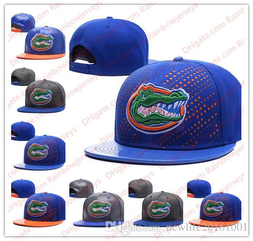 27dd9c1ba NCAA Florida Gators Snapback Caps 2018 New College Adjustable Hats All  University Caps Gray Royal Blue One Sze for All