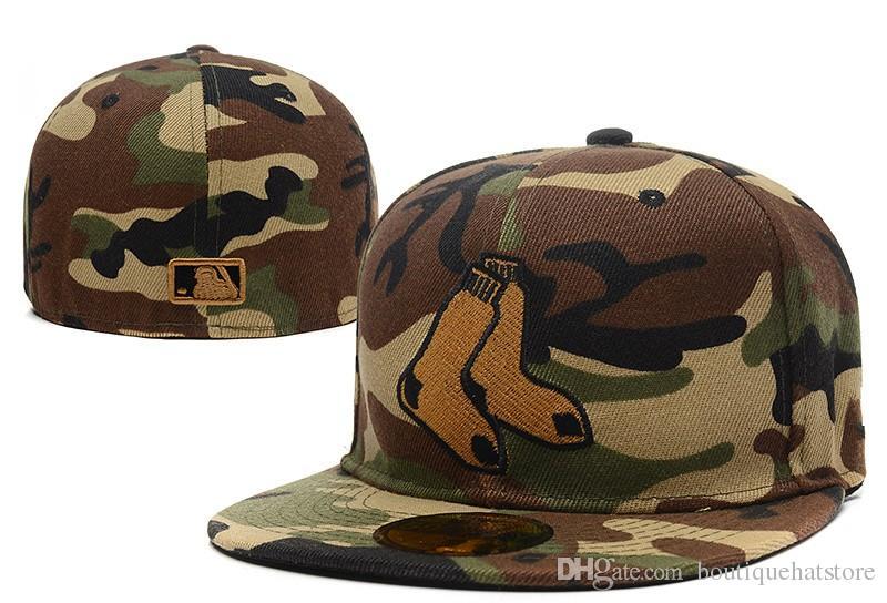 Herren Red Sox schwarze Farbe tailliert Hut flach Krempe bestickt B Brief Team Logo Fans Top-Qualität Baseball Hüte rot Sox auf Feld voll geschlossenen Kappe