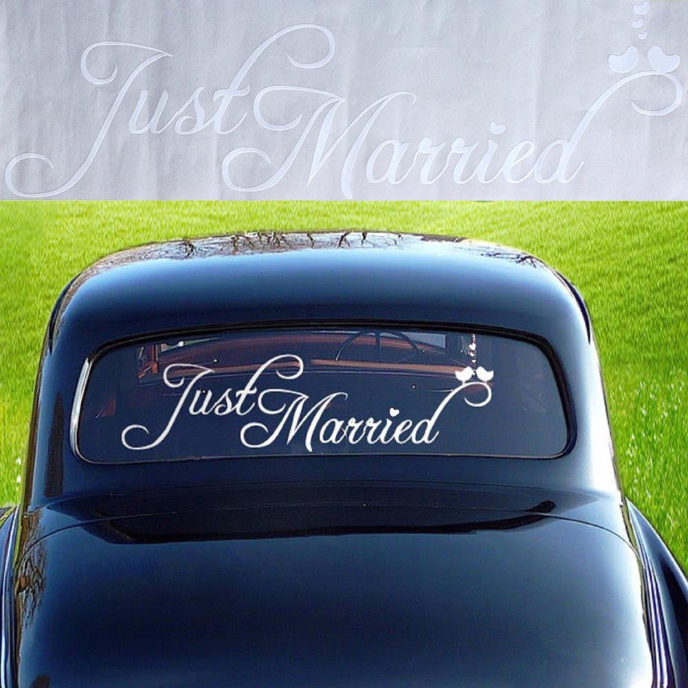 Just Married Letter Stickers